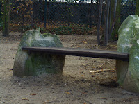 Date: December 2007  Location: Paris  Story: Another bench adorns the gardens of the Rodin Gallery in Paris. Just a very pretty sight.