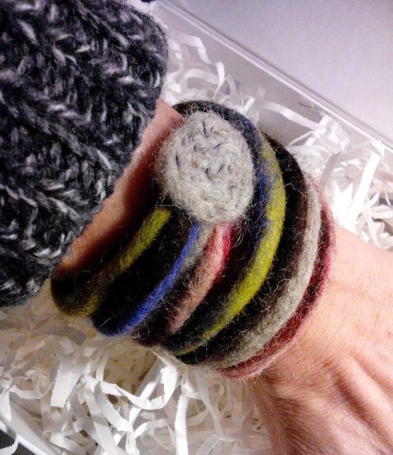 The wet felted bracelet