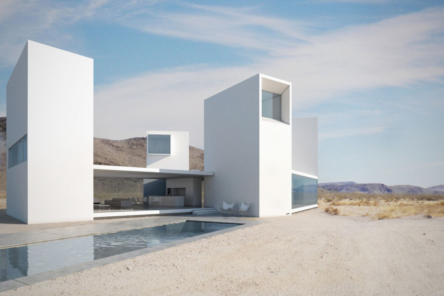 Coachella Valley, Palm Desert, California 92211, Stati Uniti: [FOUR EYES HOUSE BY EDWARD OGOSTA ARCHITECTURE]