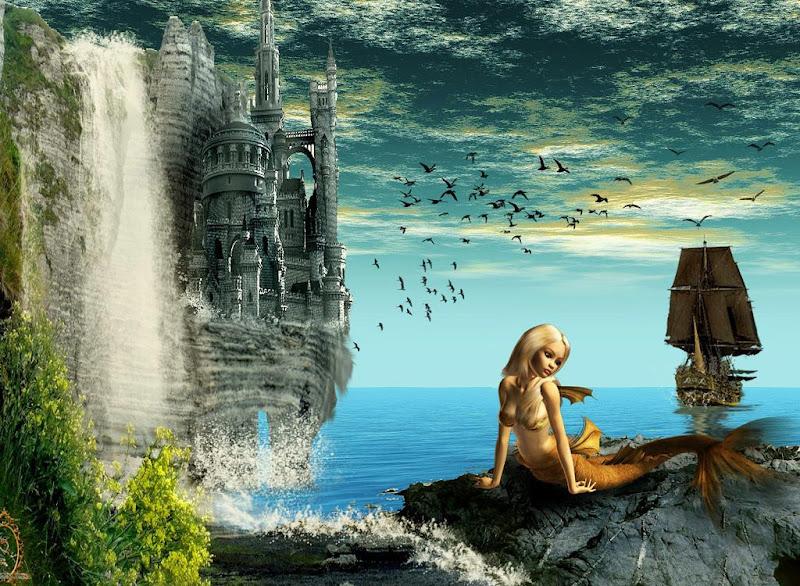 Little Mermaid In The Castle Of Ocean, Undines