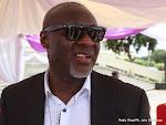 Didi Kinuani le 01/02/2014 au palais du peuple à Kinshasa, lors de l'arrivee de la dépouille du King Kester Emeneya après l'arrivee de dépouille en provenance de Paris. Radio Okapi/Ph. John Bompengo