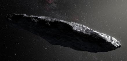 ilustração do objeto 'Oumuamua
