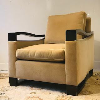 Mohair Donghia Woodbridge Style Club Chair #1