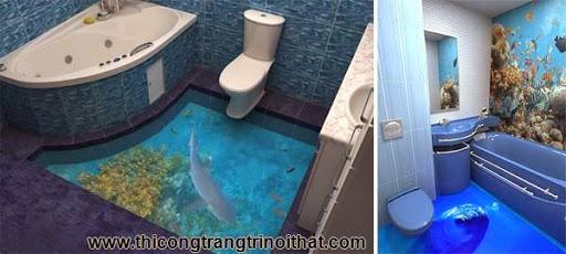 Biến phòng tắm thành đại dương với tranh nghệ thuật 3D đầy ấn tượng - Thi công trang trí nội thất-4