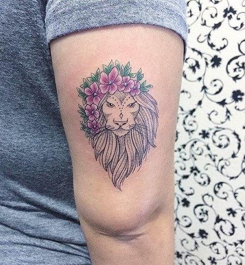 esta_muito_florido_tatuagem_de_leo_para_as_mulheres