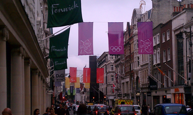 Olympic flags all around London