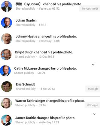 Google+ Eric Schmidt