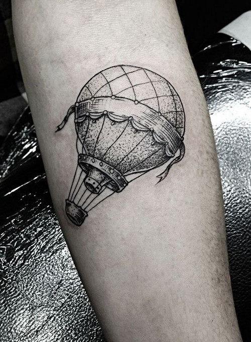 este_simplista_de_balo_de_ar_quente_tatuagem
