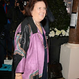 WWW.ENTSIMAGES.COM -   Suzy Menkes arriving    at    Private view of Monuments by Fabien Baron at Sotheby's London October 14th 2014 - Private view of the French clothing brand's new exhibition, Monuments by Fabien Baron                                                     Photo Mobis Photos/OIC 0203 174 1069