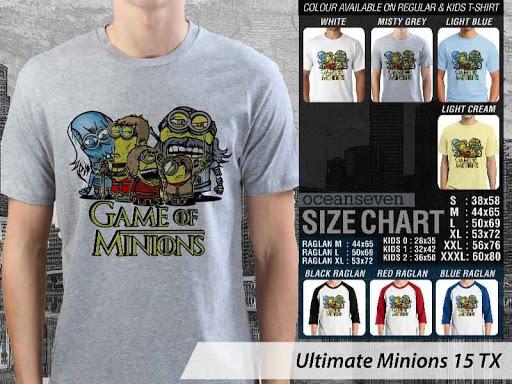 Kaos Kartun Ultimate Minions 15 distro ocean seven