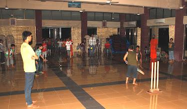 Photo: Prathmik boys playing night cricket