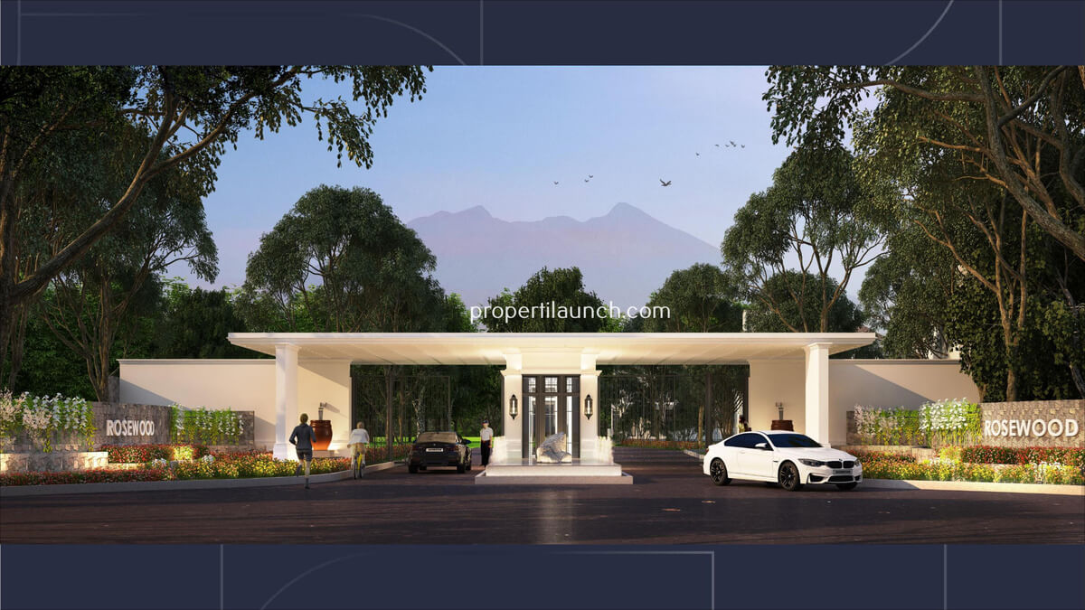 Gerbang Cluster Rosewood Golf Residence Summarecon Bogor