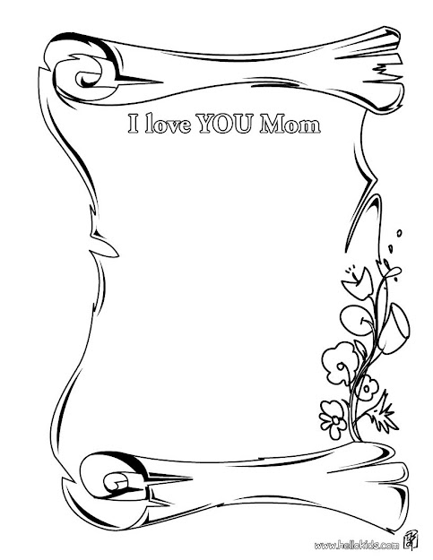 Love You Mom Coloring Page