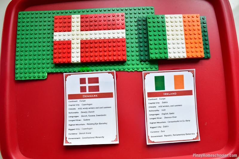 Denmark and Ireland LEGO Flags