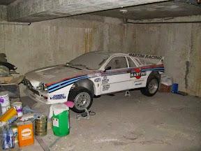 Abandoned Lancia Rally Car
