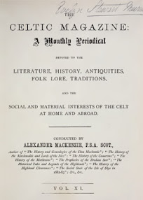 Cover of Alexander Mackenzie's Book The Celtic Magazine Vol XI