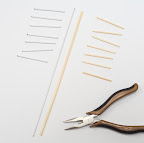 1. Cut hanger or skewers