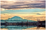 """""""Rainier From the Ferry"""" by Tim O'Neill - 3d Place A General"""