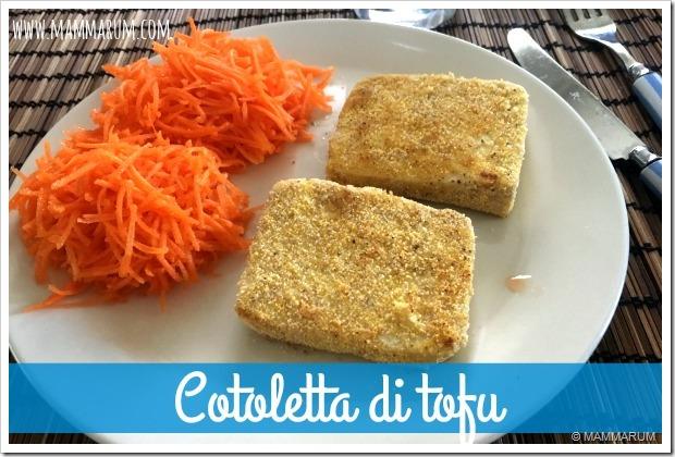 ricetta cotoletta di tofu