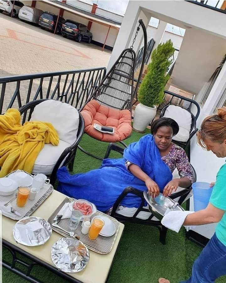 Mary Kilobi Atwoli Mzungu house help photos