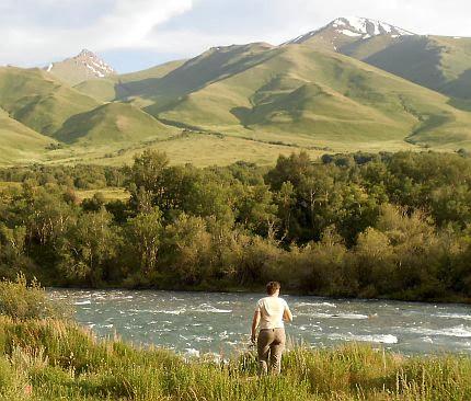 Miri am Suusamyr-Fluss, Kirgistan
