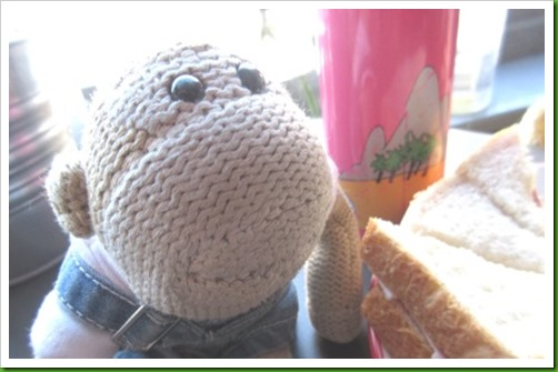 Moo Moos Evesham. Ham sandwich