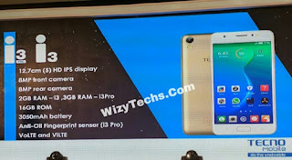 Tecno i3 Pro Specifications