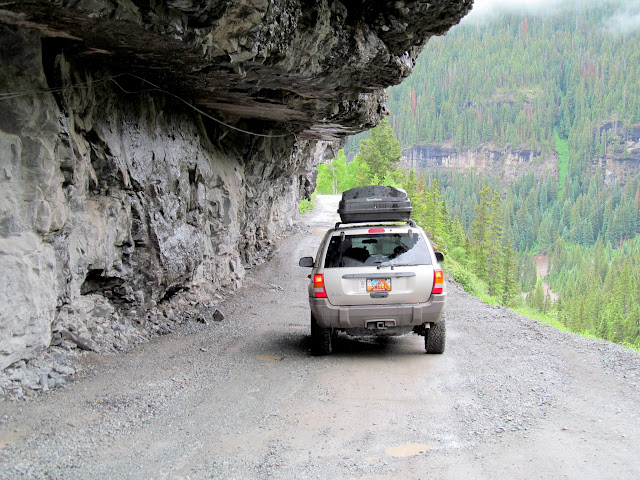 Sneffels Creek shelf road