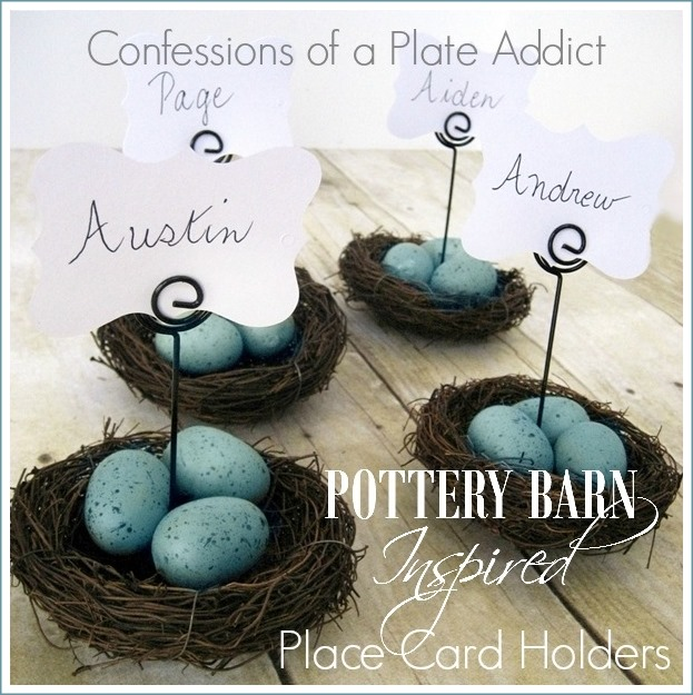 CONFESSIONS OF A PLATE ADDICT Pottery Barn Inspired Nest Place Card Holders