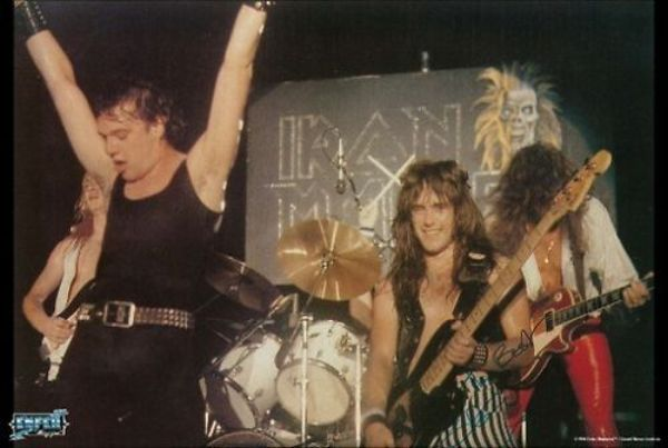 IRON-MAIDEN-POSTER-Live-on-Stage-Early-Years