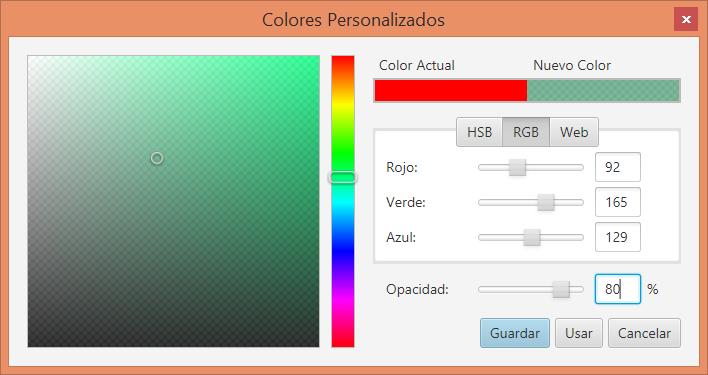 Colores personalizados JavaFX