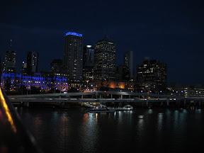 Downtown Brisbane at night