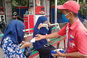"""Mutiara Famili Jaya SPBU Beureunuen Bertajuk """"1000"""" Gerakan Masker"""