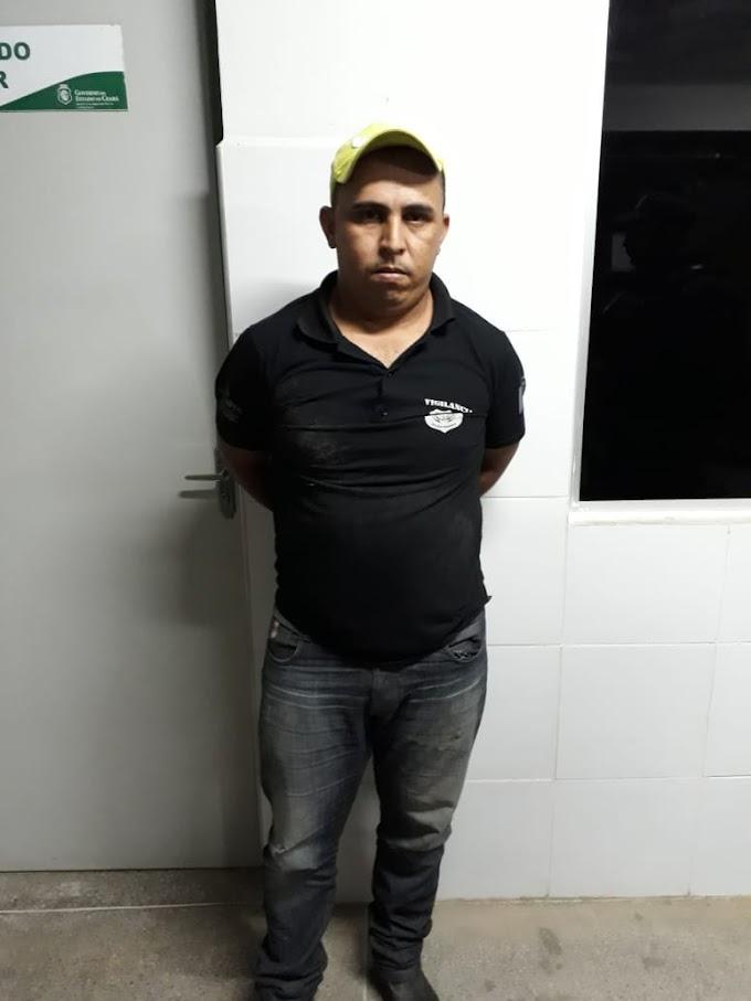 VIGILANTE PRESO EM TAMBORIL ACUSADO DE ESTÁ ENVOLVIDO COM ASSALTOS NA CIDADE E REGIÃO