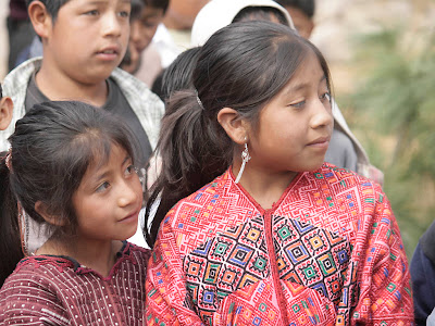 Children at opening ceremony, Sienna Project 2011 Guatemala trip to help build school in Palanquix, Solala, Guatemala. Photos by TOM HART