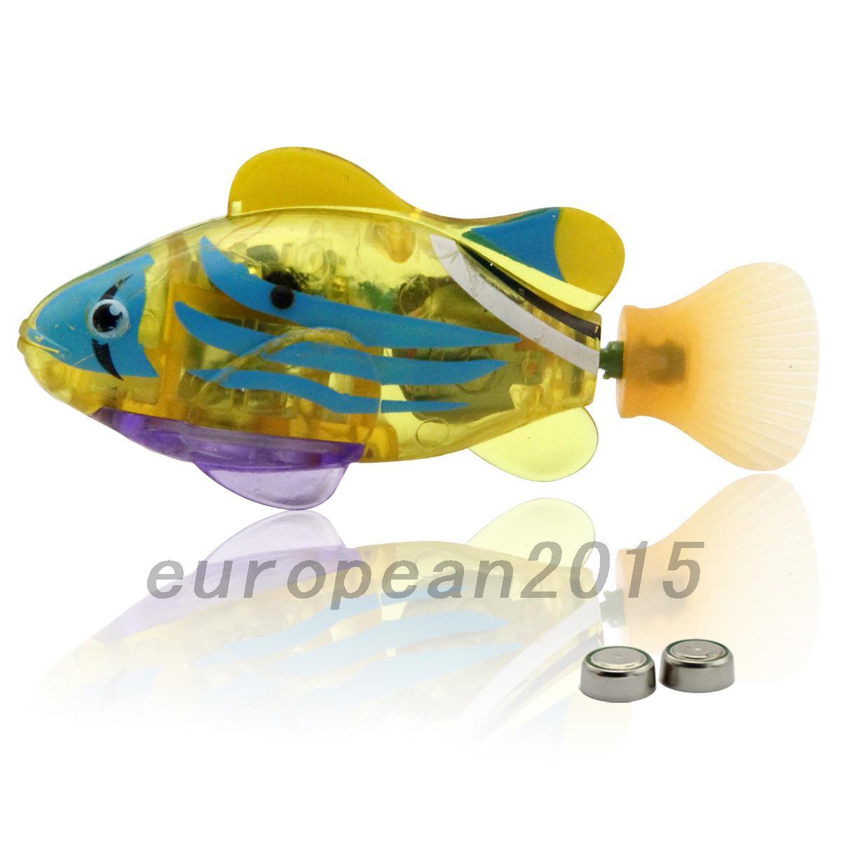 1pcs adorable kids robo fish electric pet toy swim fish for Robo fish toy