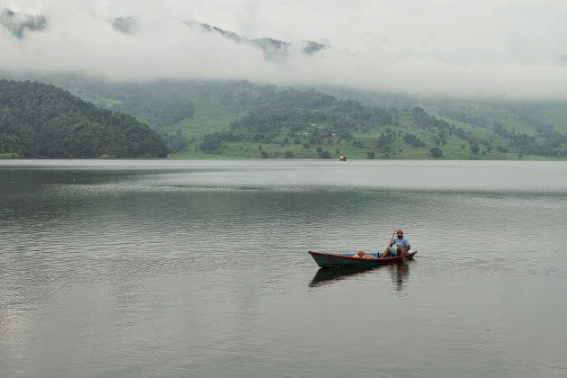 Fishing at Begnas Tal, near Pokhara, Nepal