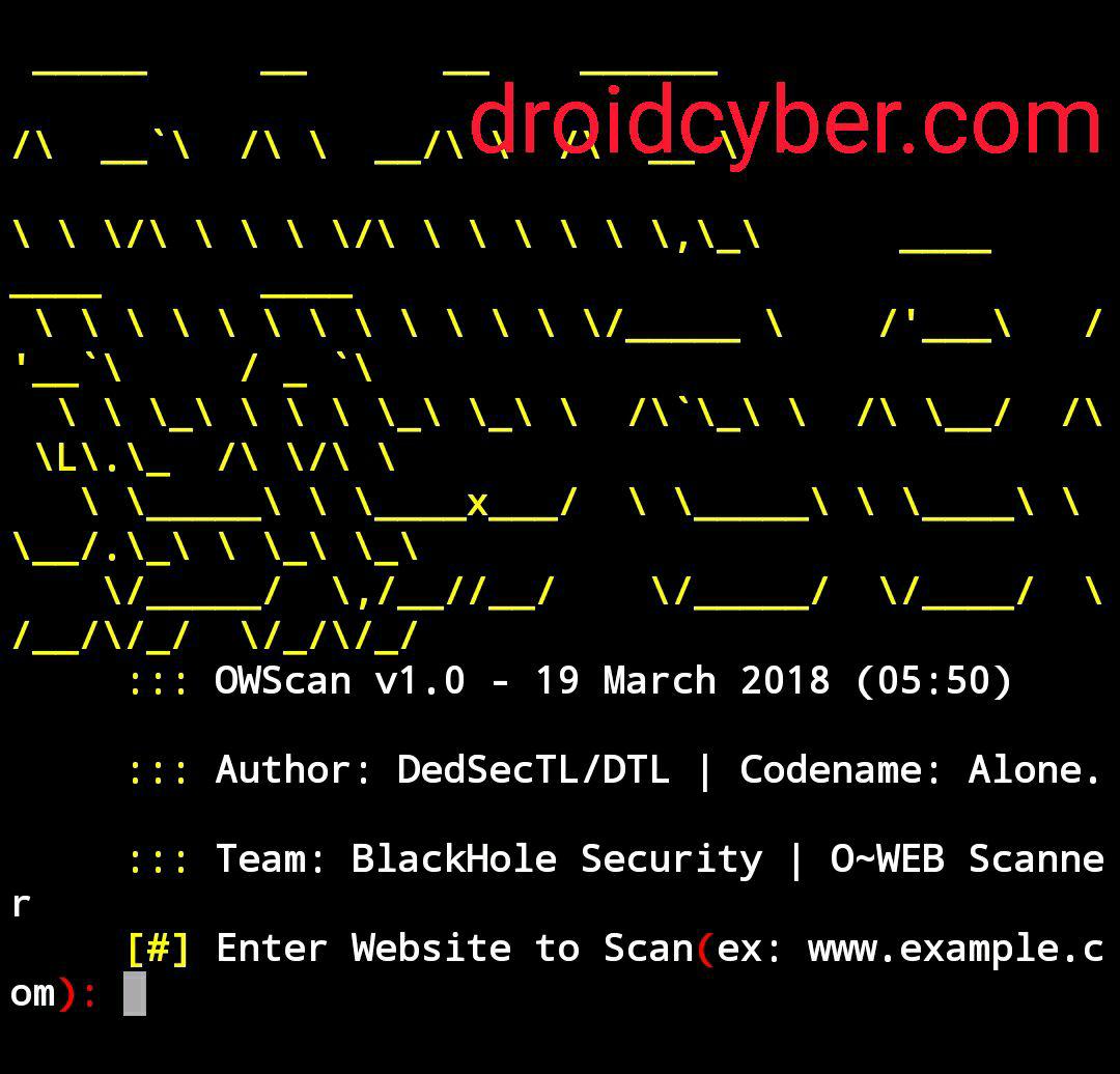 Cara Melihat Keamanan Website dengan OWSCAN