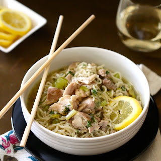 Lemon Chicken and Ramen Noodle Soup