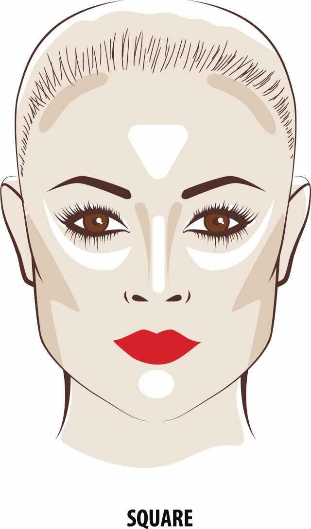 يمكن لأشكال الوجه المربعة أن تكتسب ملامح وجه أكثر نعومة