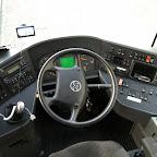 Het dashboard van de Setra van Ava Coach (GB)