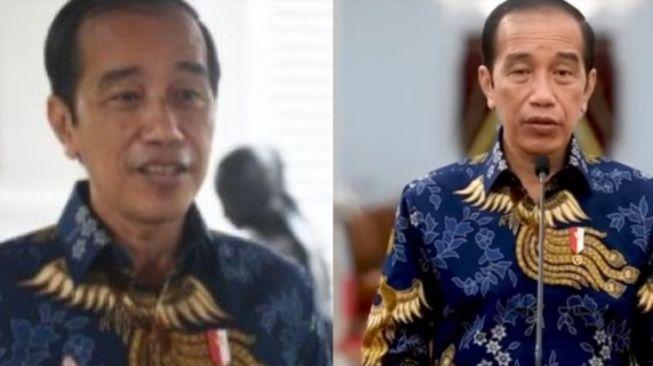 Batik Jokowi saat Tanggapi BEM UI dan Umumkan PPKM Darurat Mirip, Publik Curiga