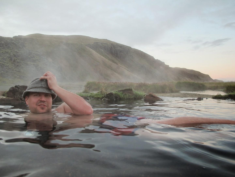 Body Dick, the great white whale in Landmannalaugar hot pool. J-M Kekki