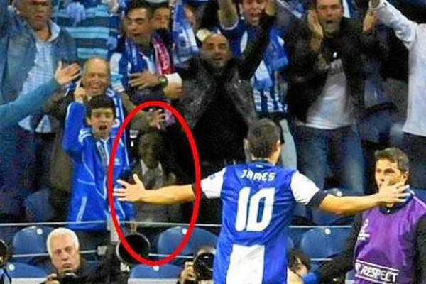 El fantasma que celebra el gol de James Rodríguez