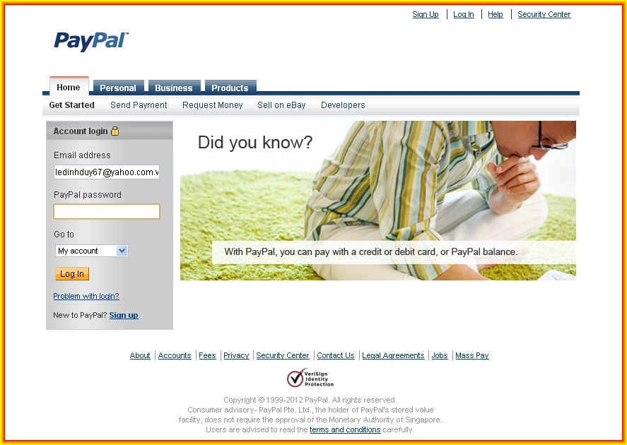 PAYPAL  (Trust Bank Online) - Pay and get paid  anywhere in the world