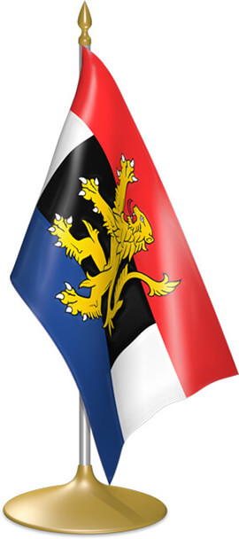 Benelux table flags - desk flags