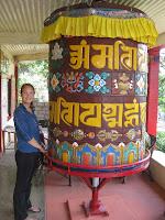 Big prayer wheel - Buddhist Meditation Center Retreat