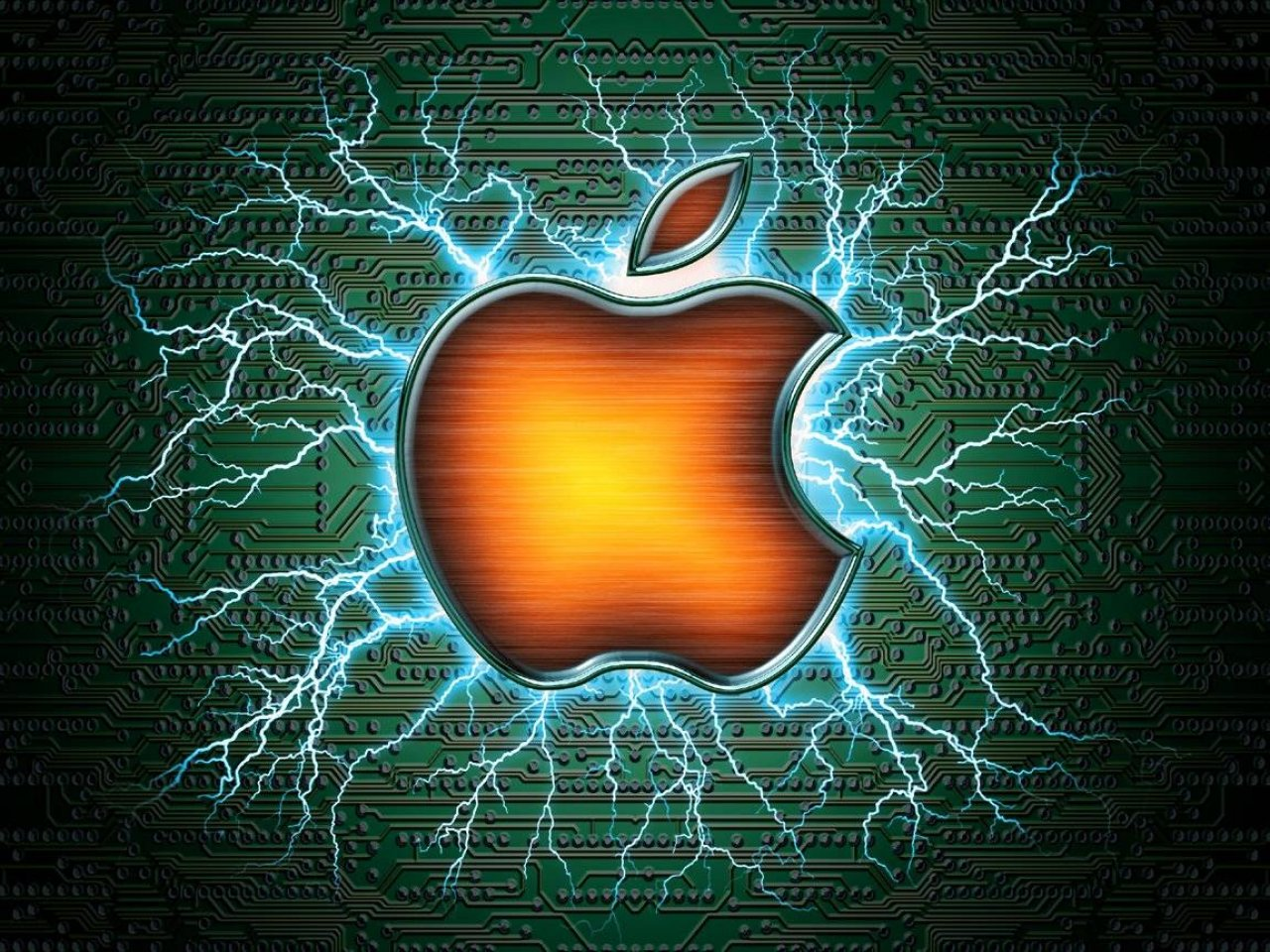 Apple Circuit Ipad Wallpaper