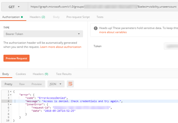 sadomovalex's blog: Access denied when try to get Azure AD