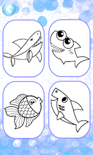 Baby Shark Coloring Book Glitter Apps Bei Google Play